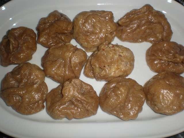 4gQosK - Dumplings de pollo con salsa de queso ahumado